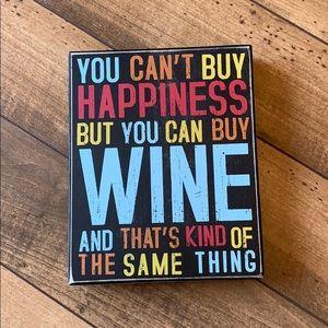 Accessories - 5/$15 Wine box sign